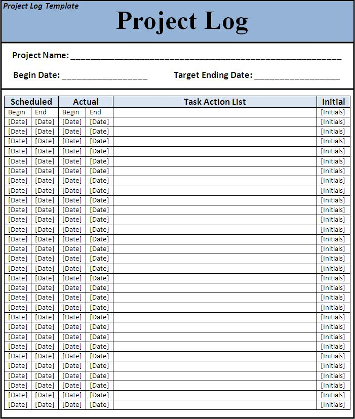 9 Best Images Of Project Templates Printable List Free