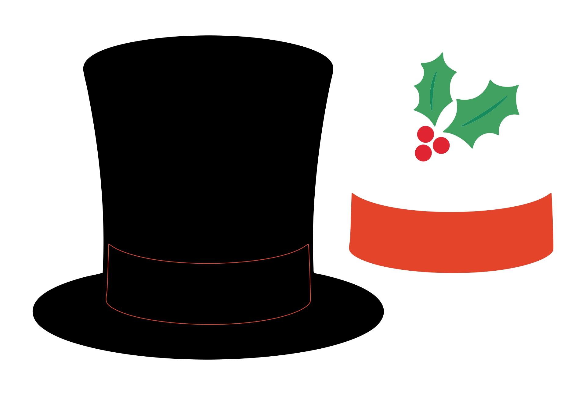 Snowman Top Hat Template Printable