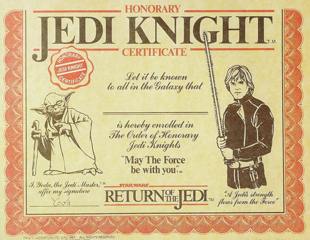 Printable - Star Wars Jedi Certificates Printable Free, Star Wars Jedi ...