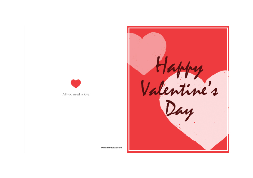 8 Images of Printable For Valentine's Day Cards From Toddlers To Parents
