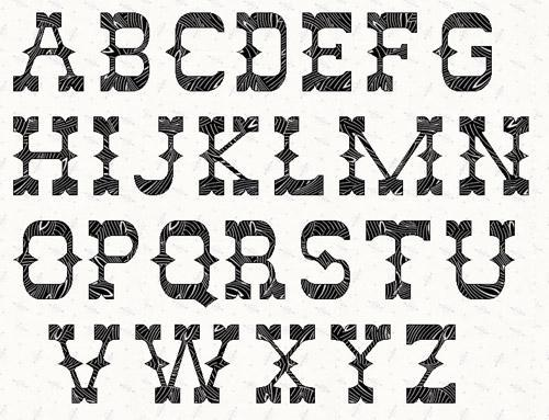 6 Images of Free Printable Western Alphabet Letters