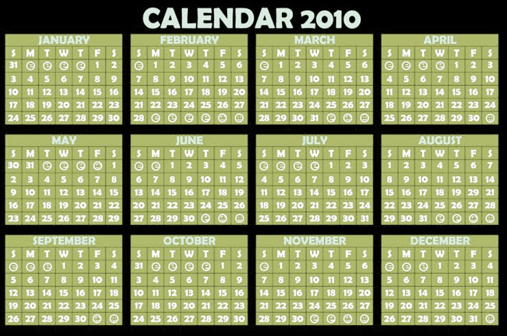5 Images of 2010 Year Calendar Printable Free