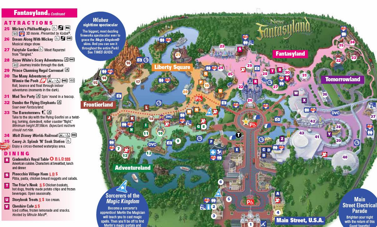 8 Best Images of Printable Disney World Magic Kingdom Map 2015 2015 Disney