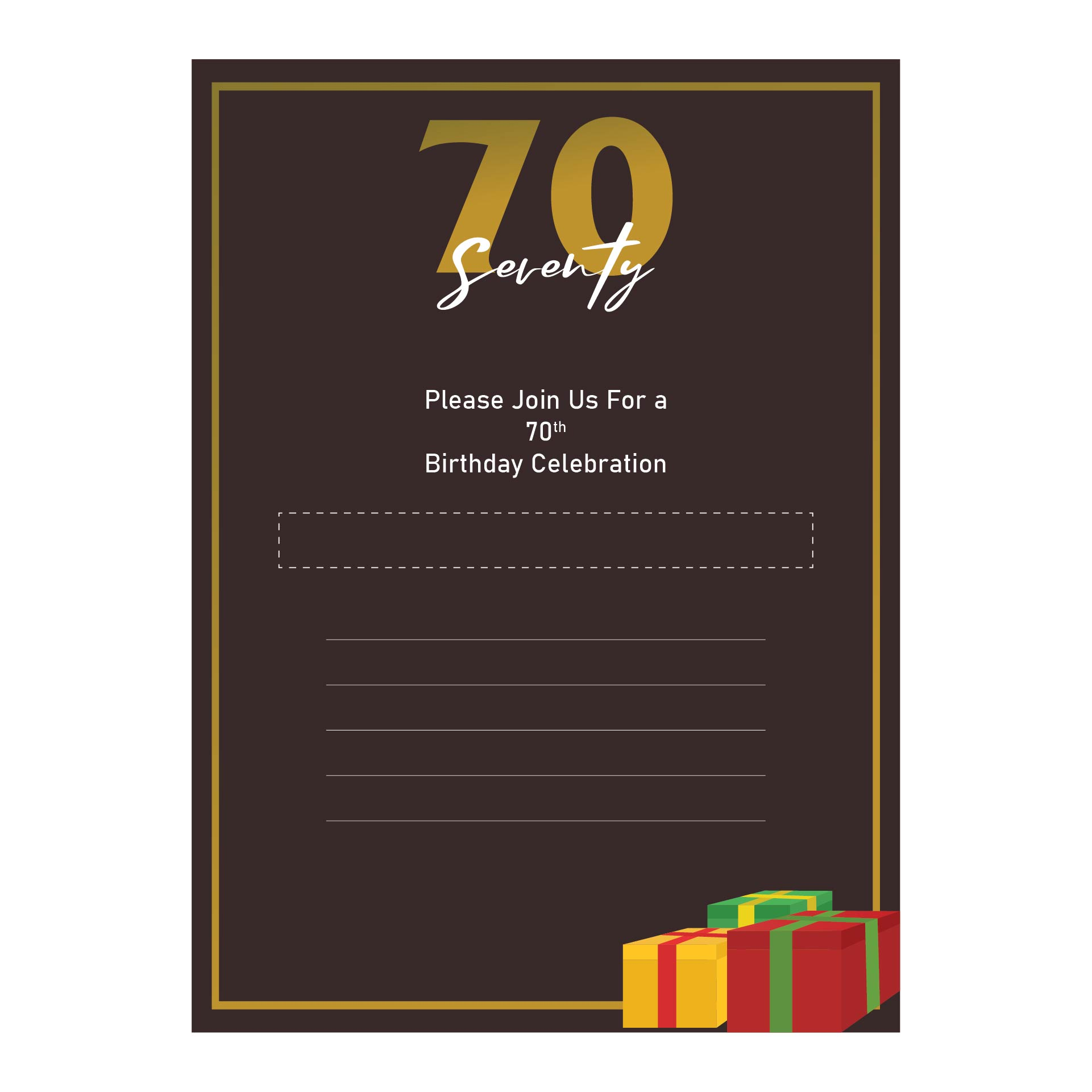 9 Images of 70th Birthday Invitations Free Printable