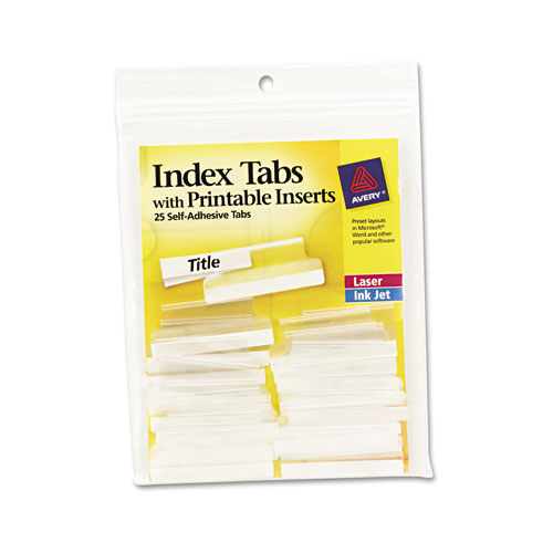 6 Images of Index Tabs With Printable Inserts