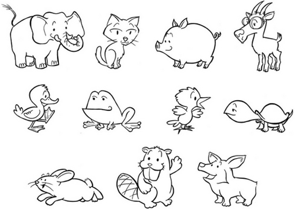 baby zoo animal coloring pages - 7 best images of free printable woodland baby animals to