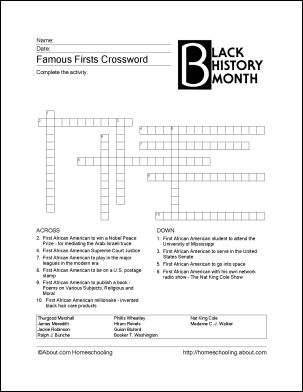 4 Images of Black History Puzzles Printable