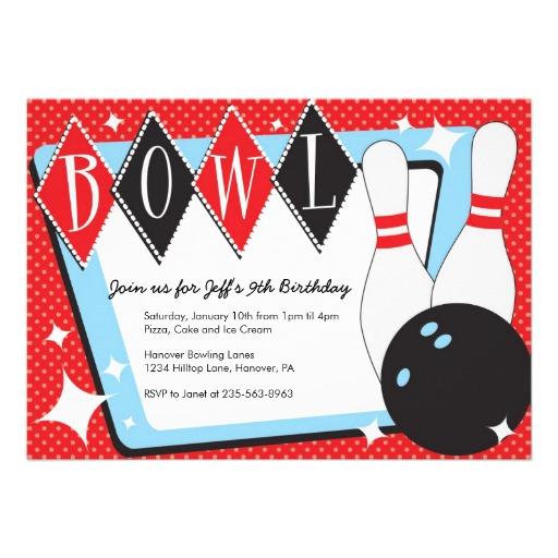 8 Images of Make Printable Invitations Bowling