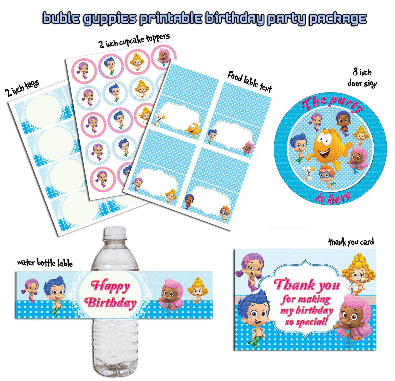 Bubble Guppies Birthday Printables