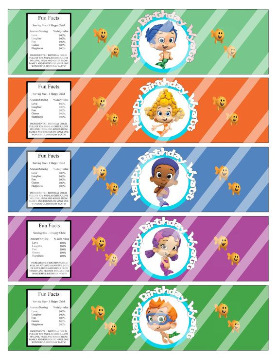bubble bottle label template - 8 best images of bubble guppies birthday party printables