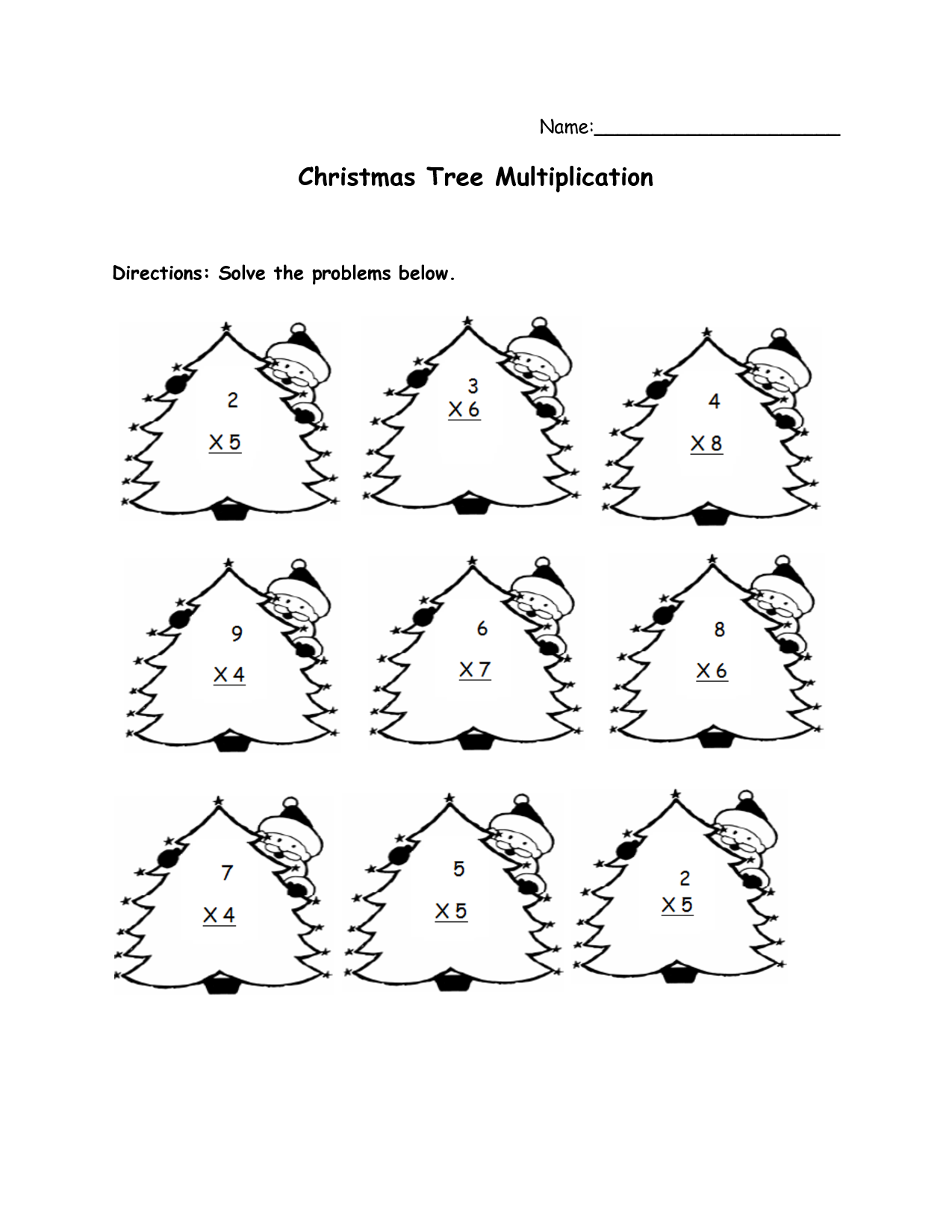 Christmas Multiplication Worksheet multiplication of fractions – Math Worksheets Christmas