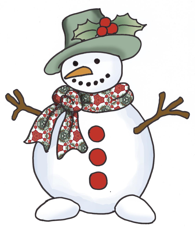 Christmas Snowmen Clip Art