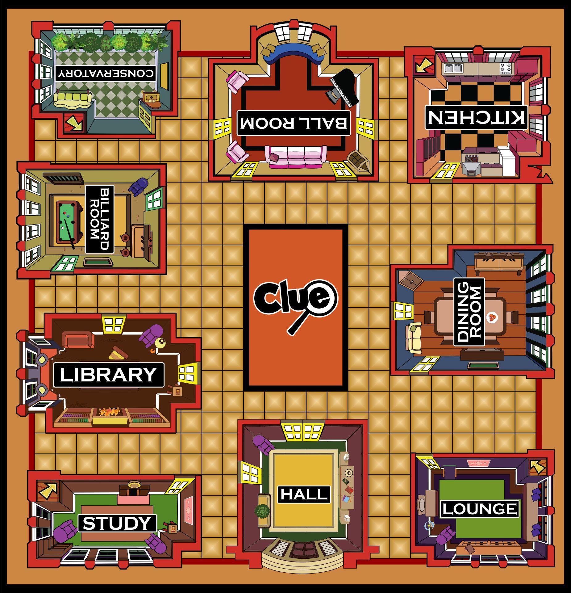 Clue Board Game Printable