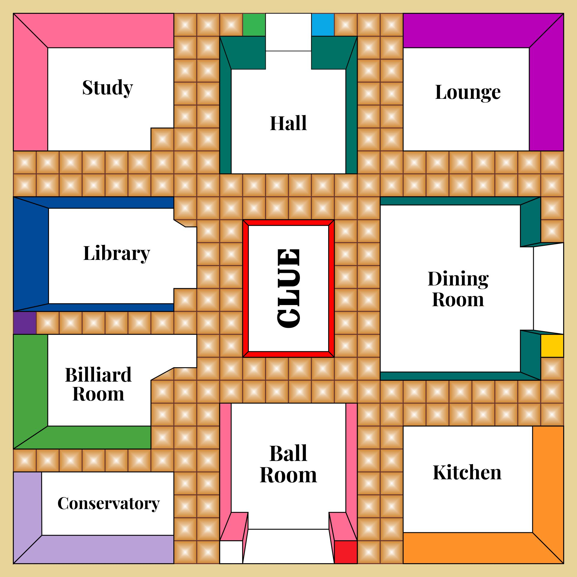 Clue Board Game Rooms