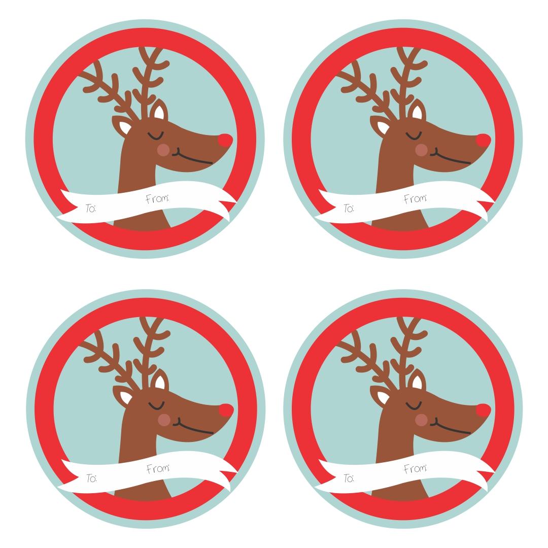 Cute Animal Christmas Gift Tag Printable