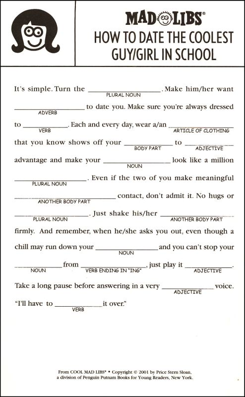 7 Best Images of Adult Romance Mad Libs Printable ...