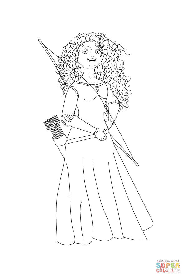 Coloring Pages Princess Merida : Best images of merida free printables brave princess