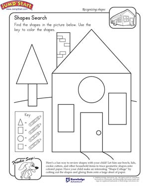 5 Images of Free Printable House Shapes Worksheet