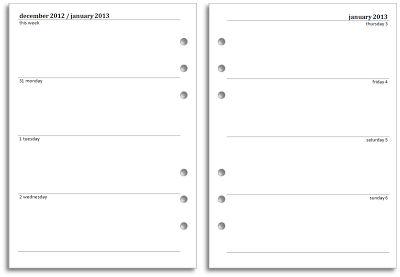 Free Filofax A5 Calendar Printables 2014