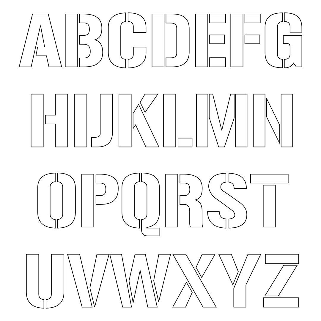 7 Best Printable Letter Stencils Printablee Com