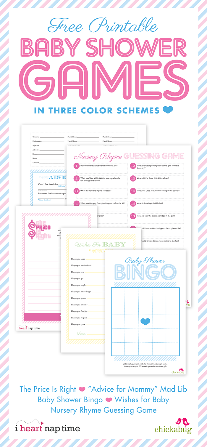 6 Images of Printable New Baby Shower Games