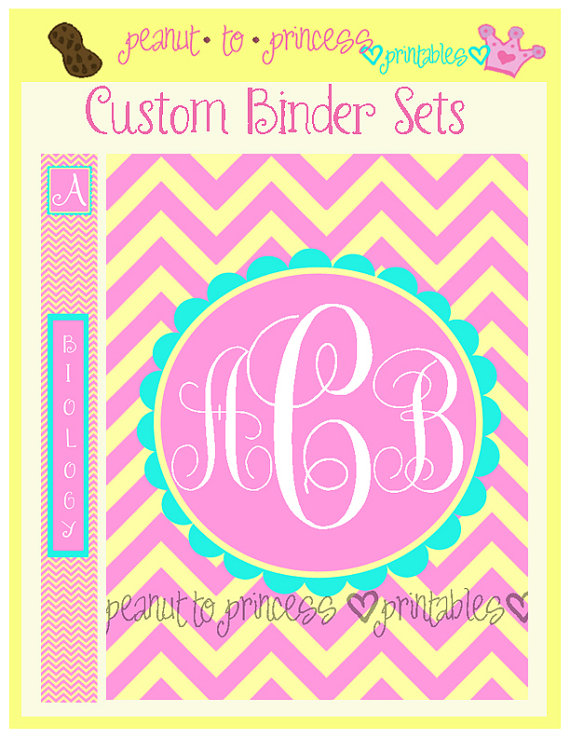 5 Images of Free Printable Monogram Binder Cover Inserts