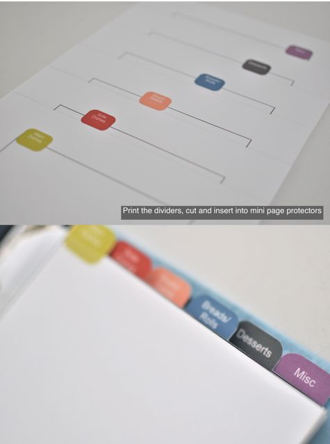 6 Images of Printable Recipe Tab Dividers