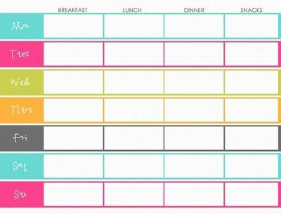 Free Printable Blank Menu Planner