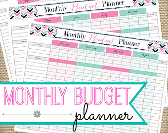 ... Printable Monthly Budget Worksheet & Printable Monthly Budget Chart