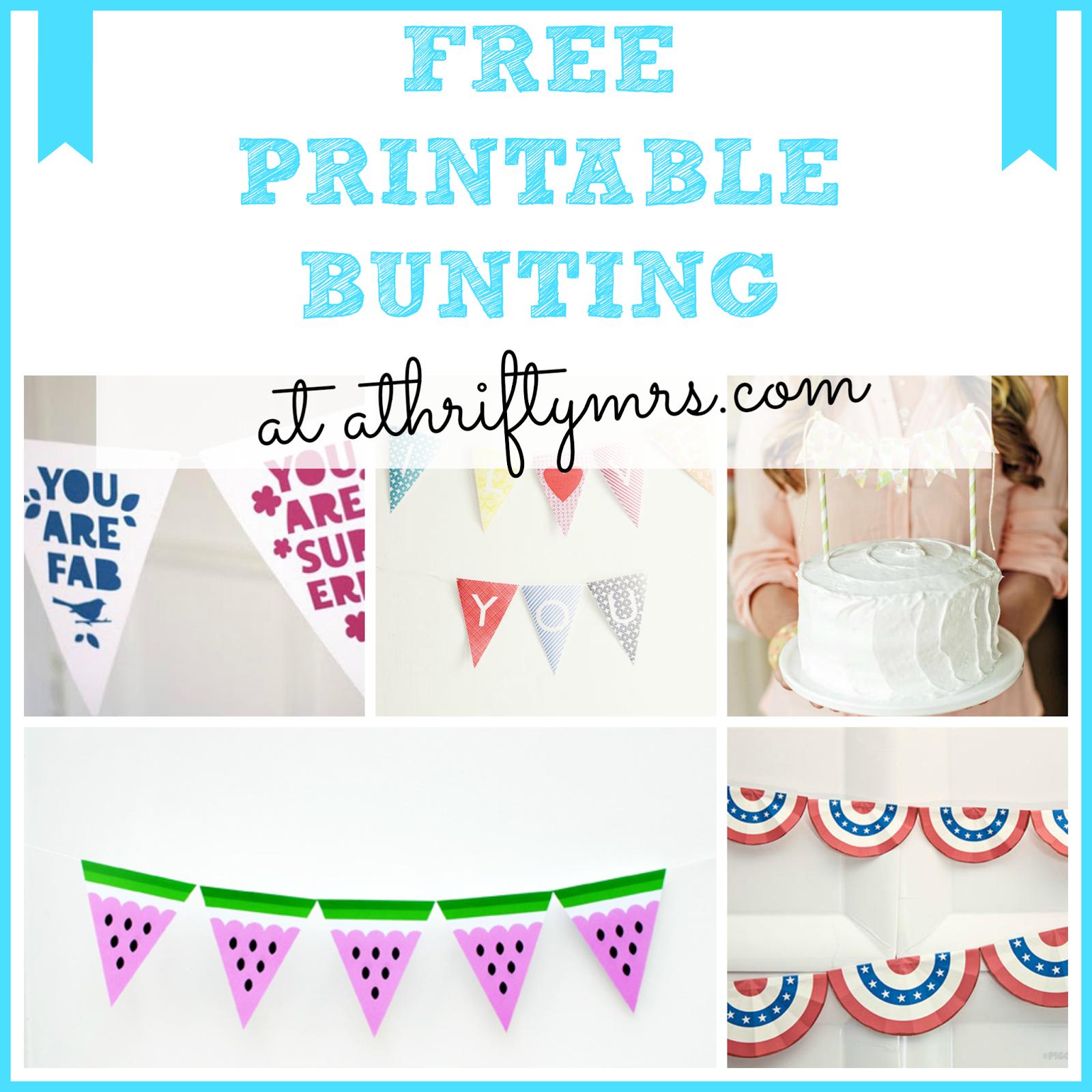 Free Printable Cake Bunting