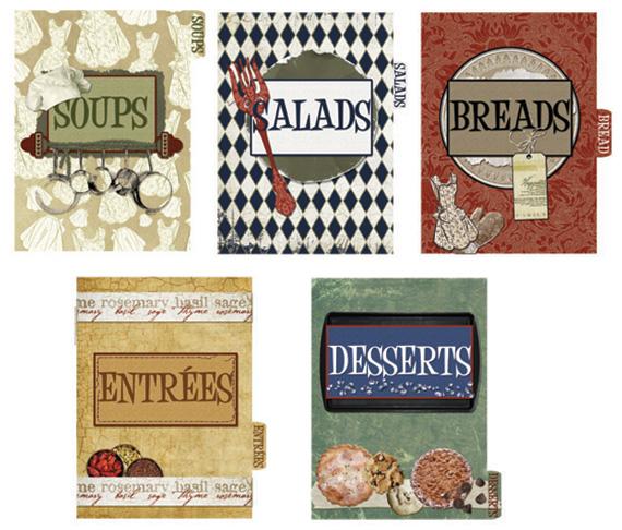 Free Printable Cookbook Divider Pages