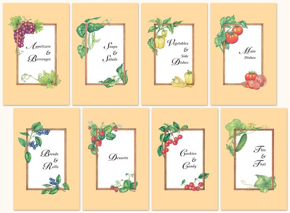 Free Printable Cookbook Dividers