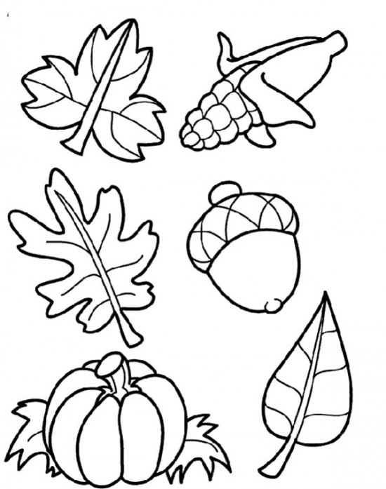 5 Images of Coloring Pages Free Printables For Autumn