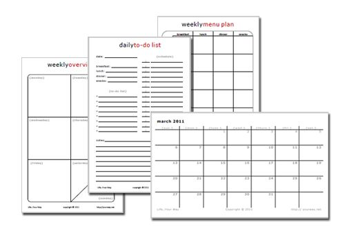 Free Printable Half Sheet Planner Pages