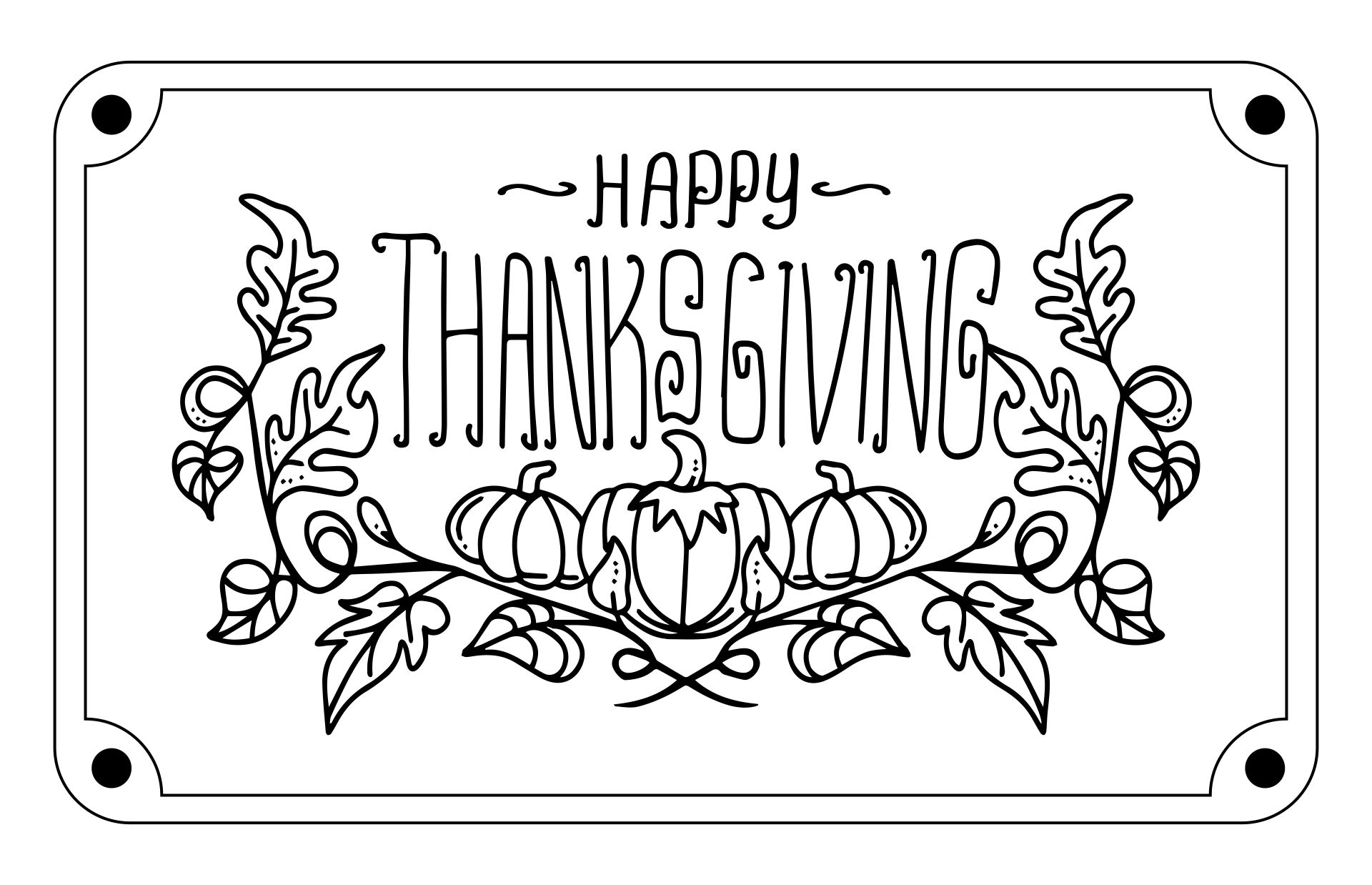 Printable Happy Thanksgiving Signs