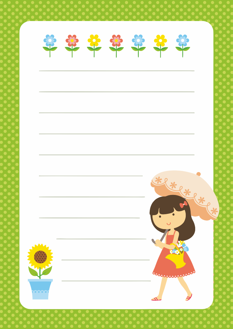 Free Printable Letter Writing Paper For Kids