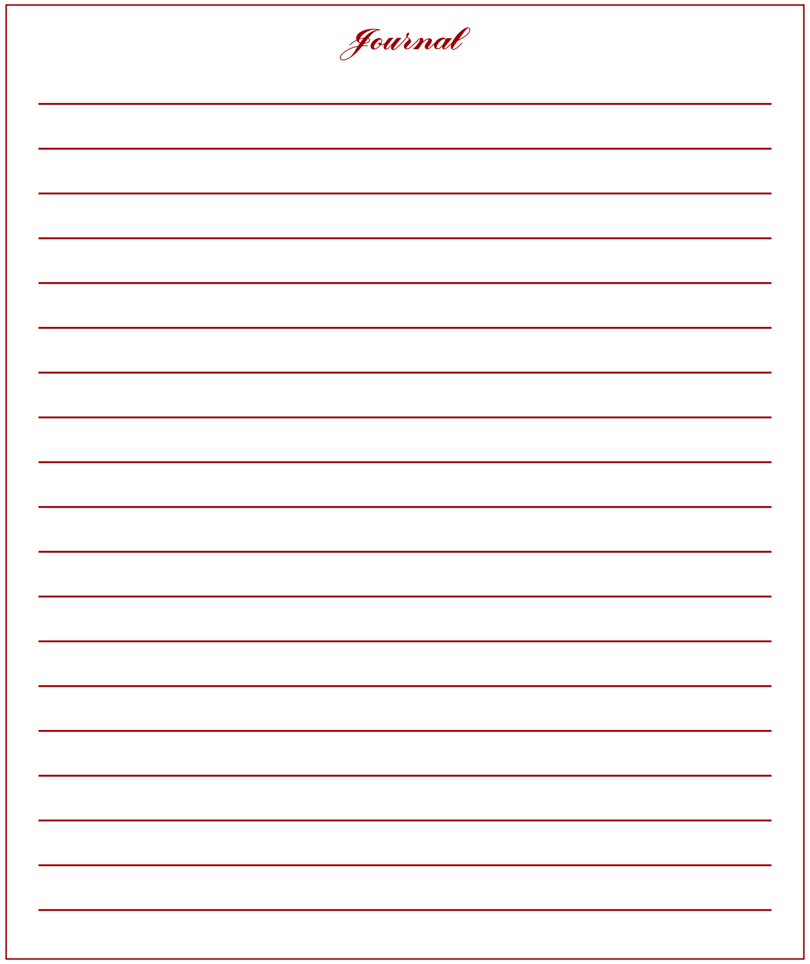 Printable Lined Journal Paper