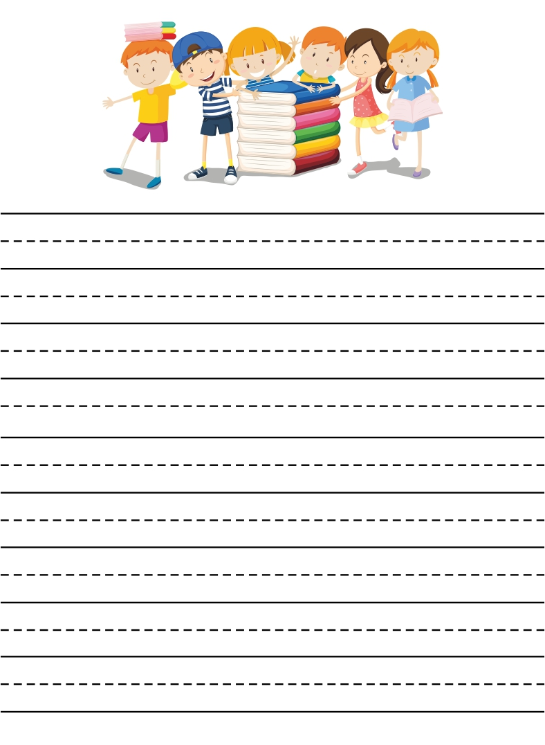 Printable Lined Writing Paper for Kids