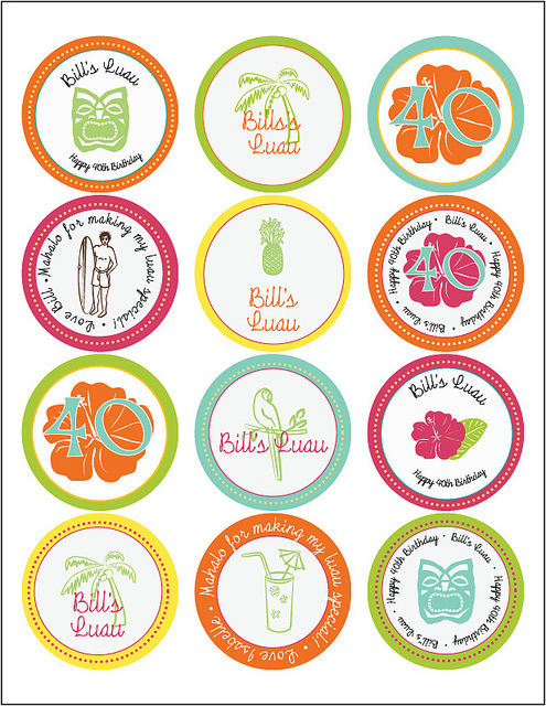 5 Images of Tiki Cupcake Toppers Printable