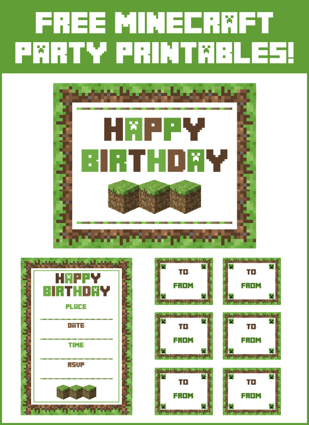 9 Best Images of Minecraft Party Printables - Minecraft ...