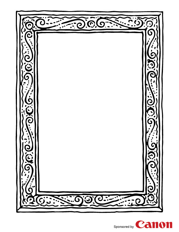 Free Printable Picture Frame Coloring Pages