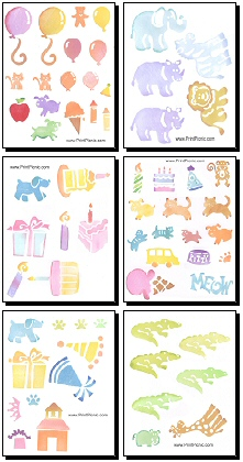 7 Images of Baby Free Printable Scrapbook Cutouts