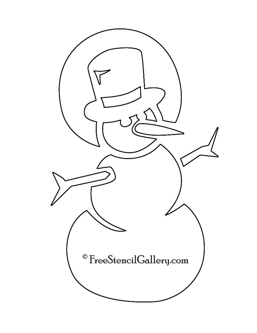 7 Images of Snowman Stencil Printables