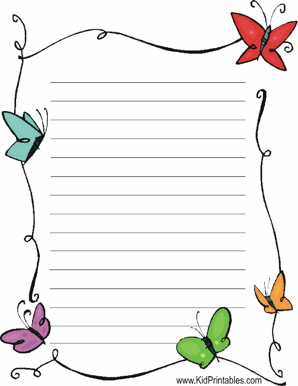 This is a picture of Free Printable Stationery Template within printable notebook paper