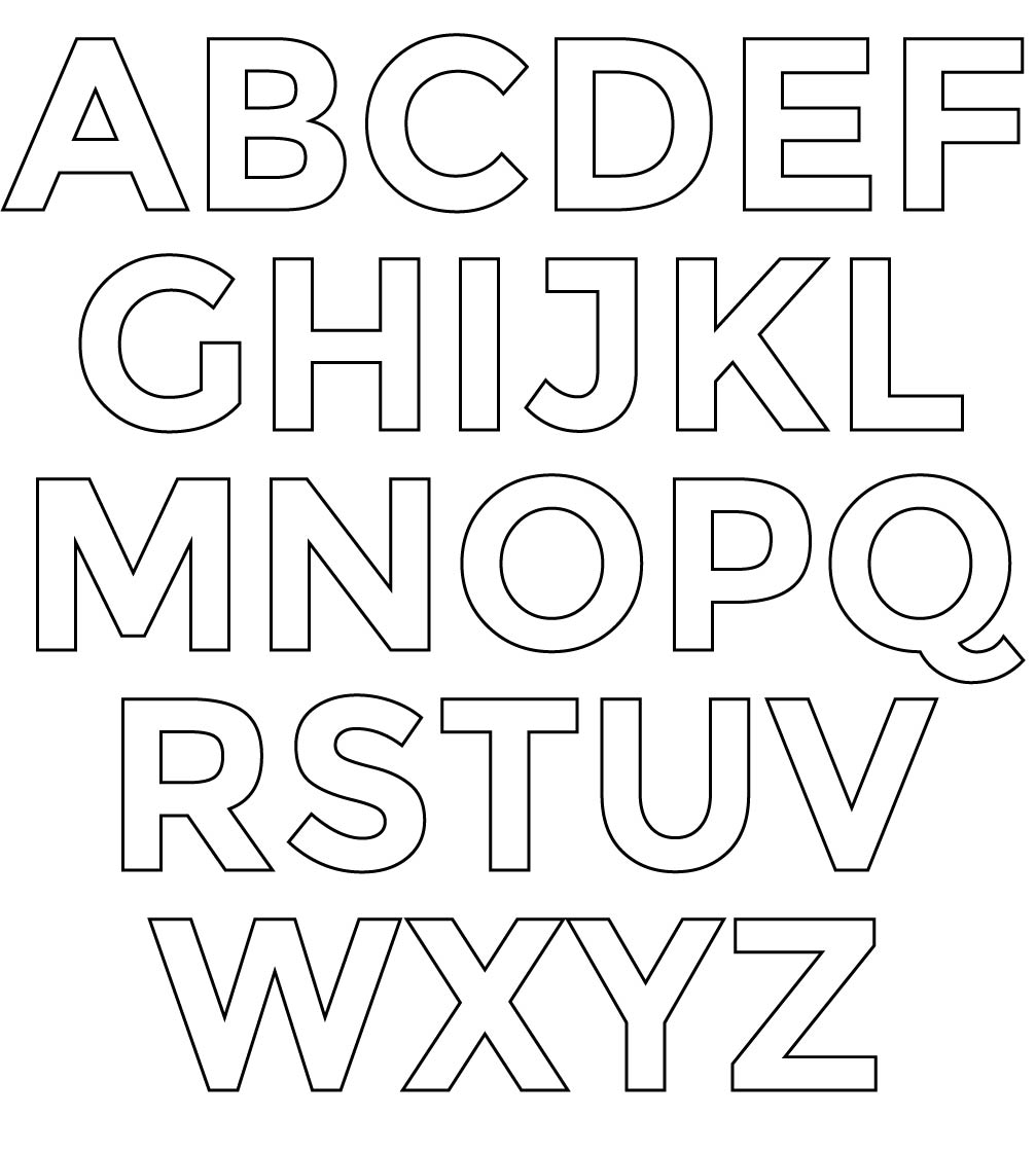 7 best images of printable letter stencils free for Free printable alphabet templates
