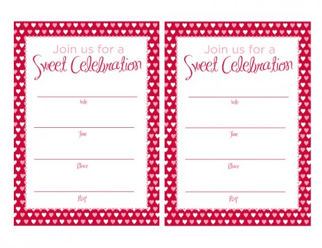 Free Printable Valentine Party Invitations