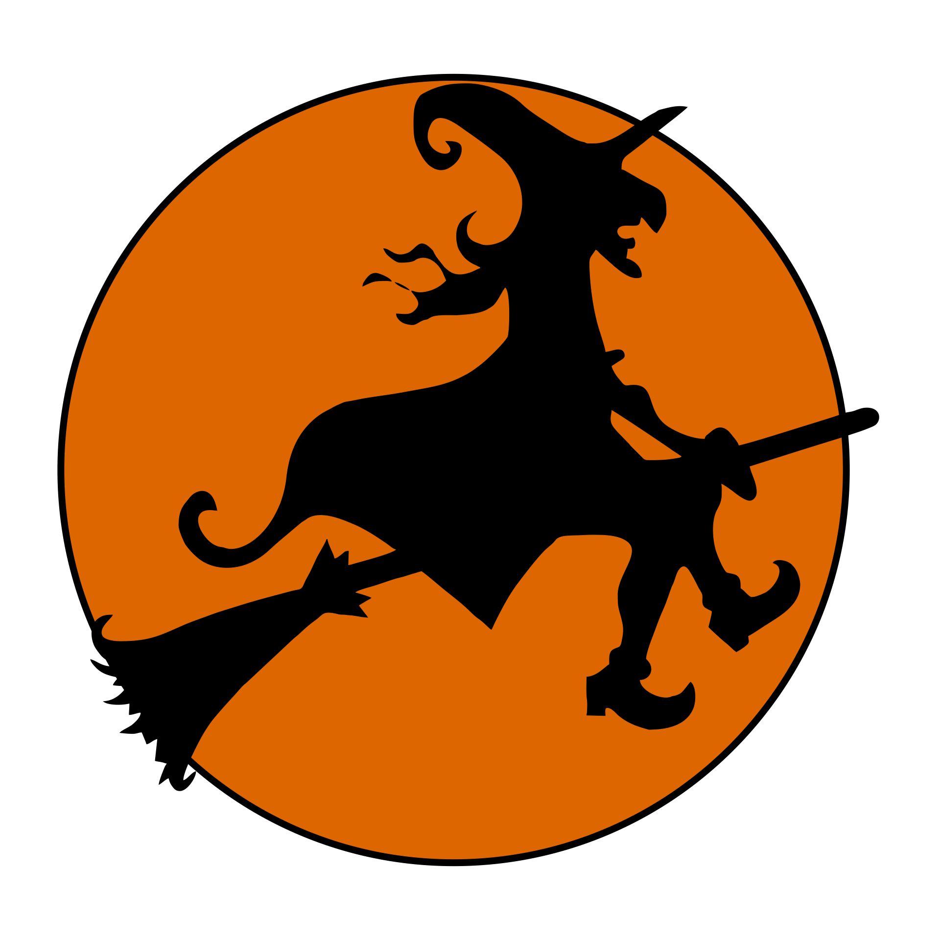 Printable Vintage Halloween Witch