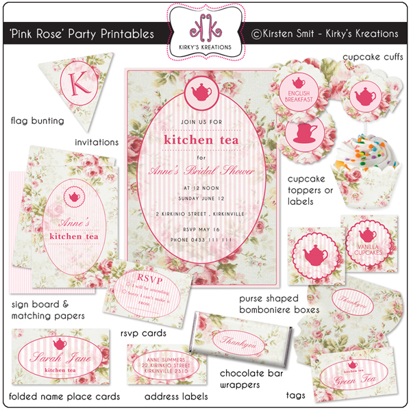 6 Images of Party Printables Vintage Label