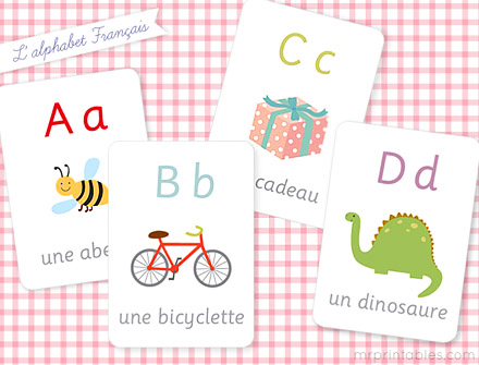 6 Images of Printable French Flash Cards