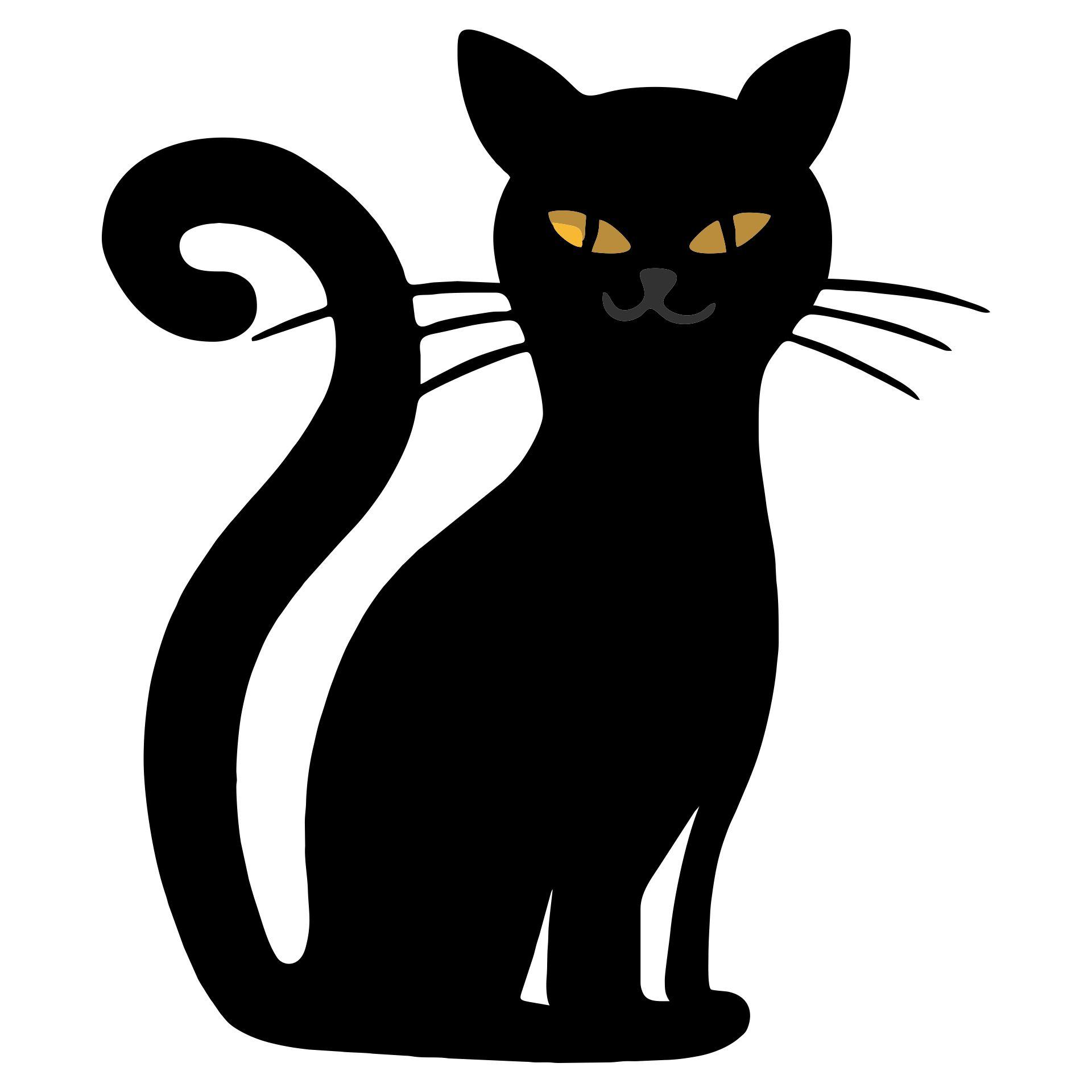 Halloween Black Cat Drawings